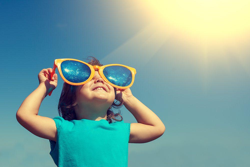 Little girl enjoying the sunshine!